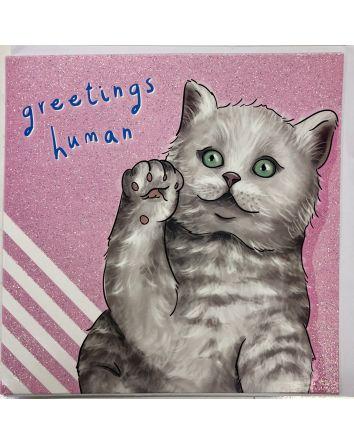 Greetings Human Card