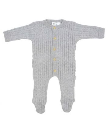 Korango Cable Knit Romper- Grey