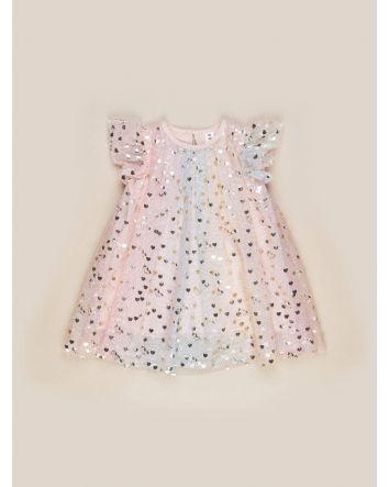 HUXBABY Unicorn Hearts Dress