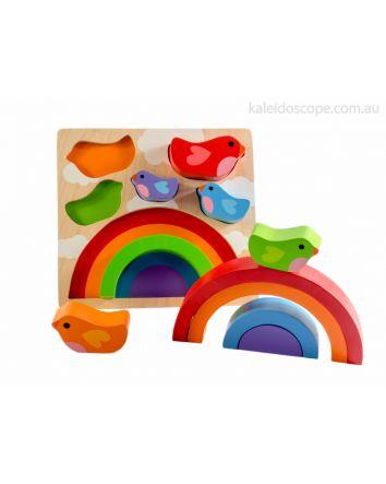 Bird and Rainbow Puzzle
