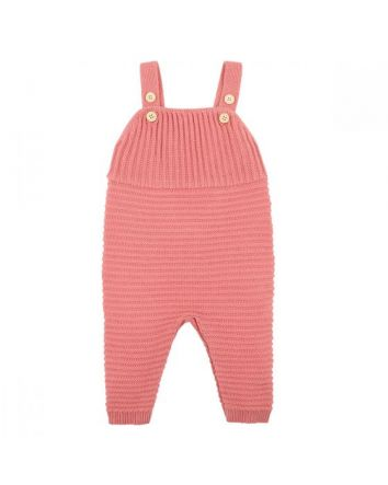 Fox & Finch Animal Knitted Overalls