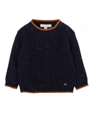 FOX & FINCH NAVY CABLE JUMPER