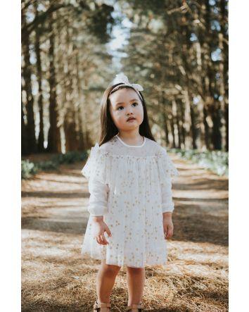 Sparkle Netting Dress- Gold Star