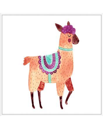 Dancing Llama Print 30cm x 30cm