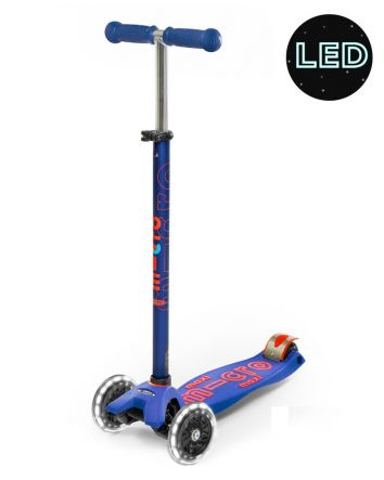 Maxi Micro Deluxe Led Scooter - Blue