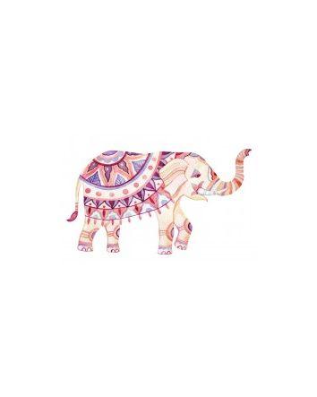 Pink Elephant Canvas Print 40x60cm