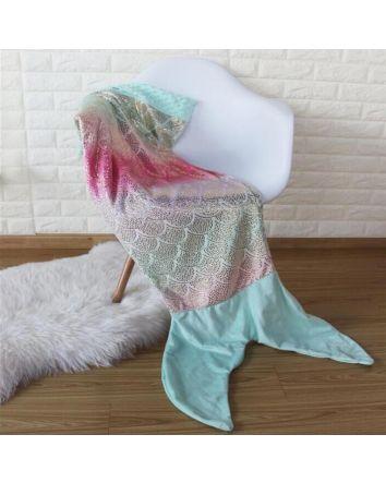 Aqua Mermaid Tail Blanket