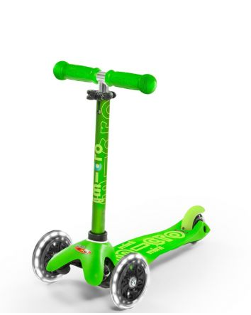 Micro Scooter Mini Deluxe LED - Green