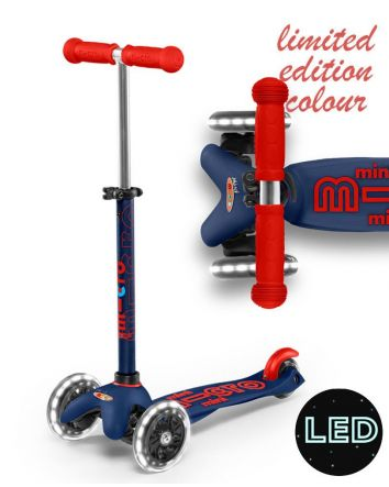 Mini Micro Deluxe Scooter- Navy LED