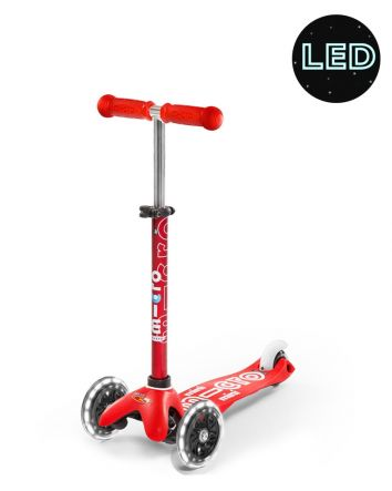 Micro Scooter Mini Deluxe LED - Red