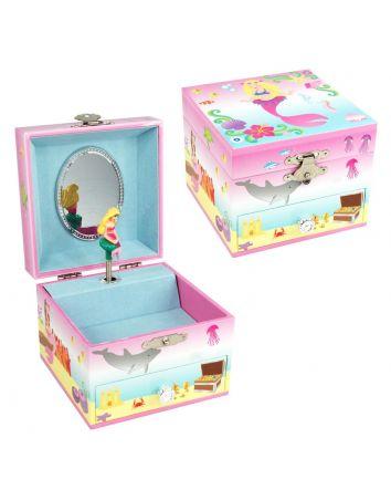 Pink Poppy Mystic Mermaid Jewellery Box Small