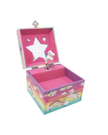 Pink Poppy Candy Dreams Music Box Small