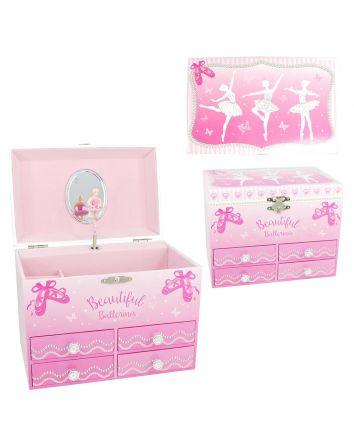 Pink Poppy Beautiful Ballerina Music Box Medium