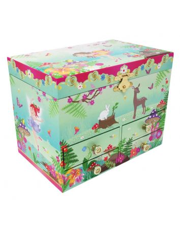 Pink Poppy Forest Fairy Music Box Medium