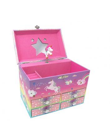 Pink Poppy Candy Dreams Music Box Medium