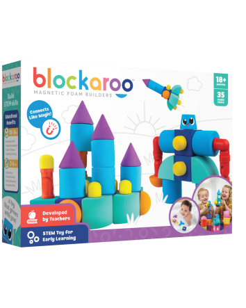 Blockaroo Magnetic Foam Blocks Castle 35 Piece Set