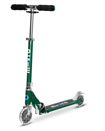 Micro Sprite Scooter w/ Light Up Wheels-Forrest Green