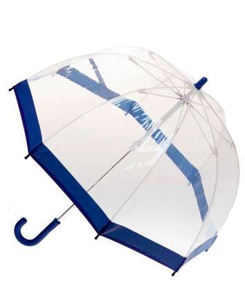 Navy Trim Birdcage Umbrella