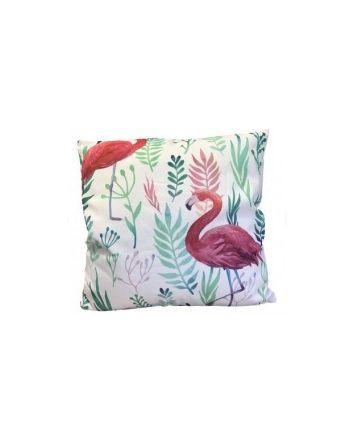 Flamingo Fronds Outdoor Cushion