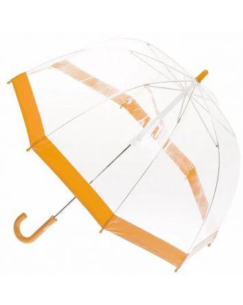 Orange Trim Birdcage Umbrella