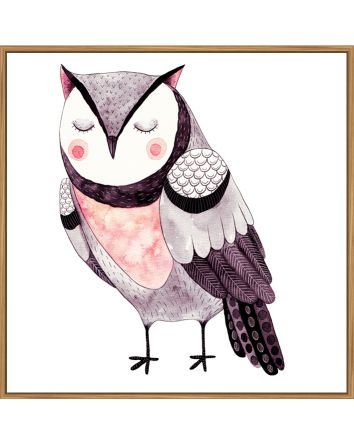 Blush Owl Print 30x30cm