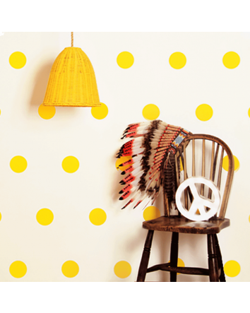 Confetti Dot Wall Sticker- Yellow
