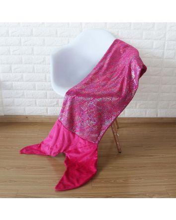 Hot Pink Mermaid Tail Blanket