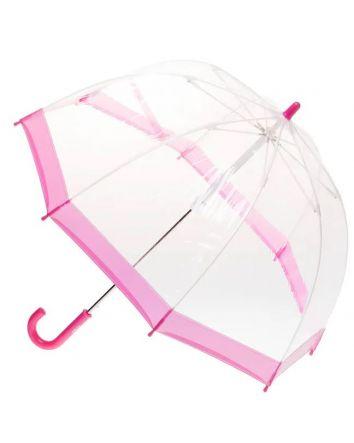 Pink Trim Birdcage Umbrella
