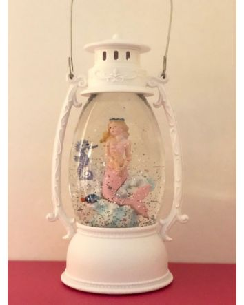 Oval Lantern w/ Pink Mermaid