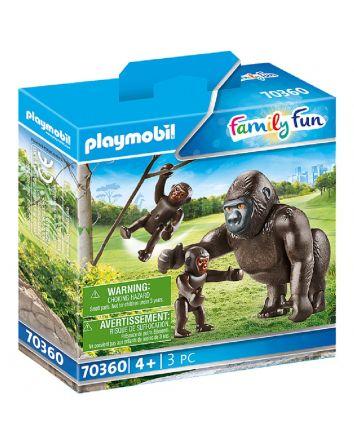 Playmobil Gorilla With Babies