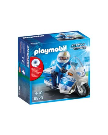 Playmobil Police Bike With LED Lights