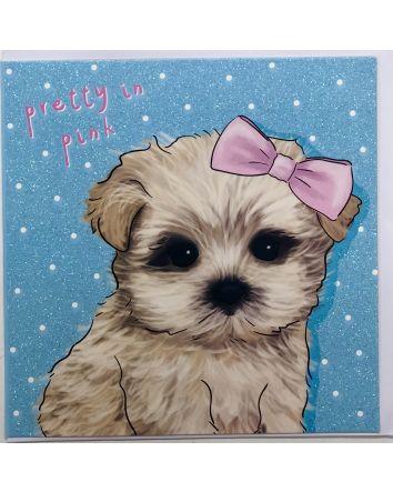 Pretty in Pink Dog Card