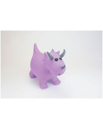 Happy Hopperz- Purple Triceratops