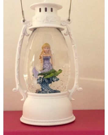 Oval Lantern w/ Purple Mermaid