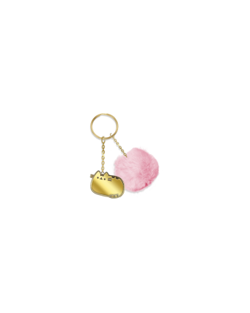 Wild Side Pusheen Gold Enamel Key Ring