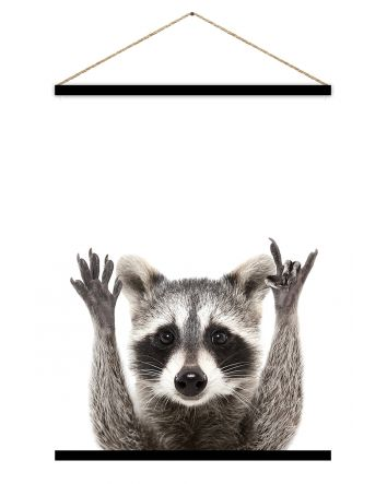 Ricky Racoon Hanging Scroll