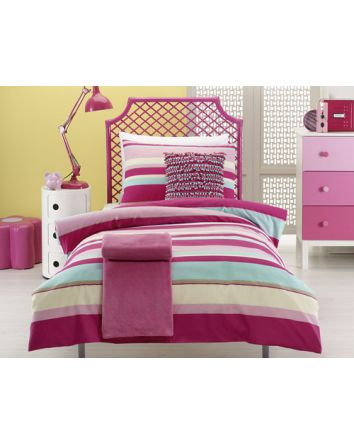 Ruby Stripe Quilt Cover Set Single