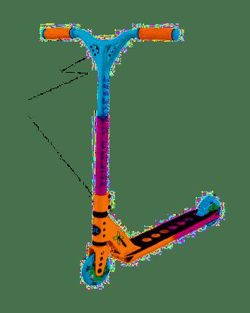 Micro mX Trixx Stunt Scooter - Rainbow Aqua