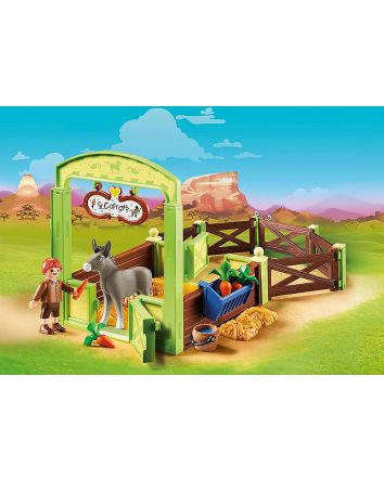 Playmobil Snips & Señor Carrots with Horse Stall