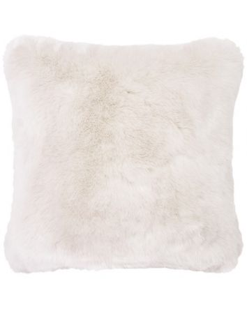Faux Fur Square Cushion - Ivory