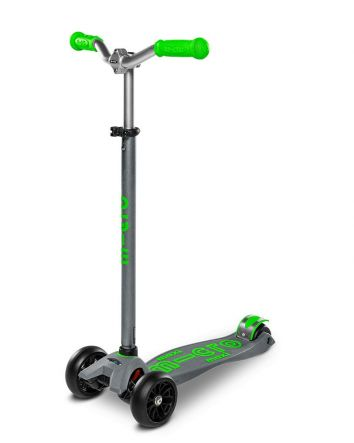Maxi Micro Deluxe Pro Scooter- Grey/Green