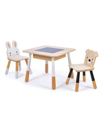 Tender Leaf Forest Wooden Table and 2 Chairs