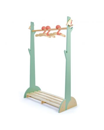 Tender Leaf Forest Wooden Clothes Rack