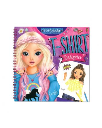 TOP MODEL T-Shirt Designer Colouring & Activity Book