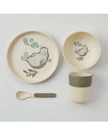 Kids Bamboo Dining Set Seal