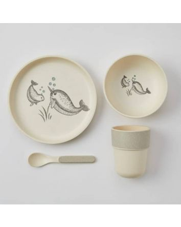 Kids Bamboo Dining Set Whale