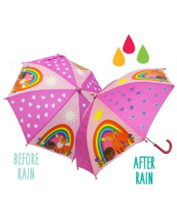 Colour Changing Umbrella- Forest Friends