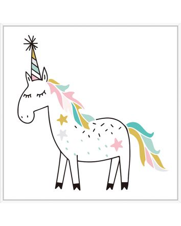 Unicorn Party Print 30cmx30cm