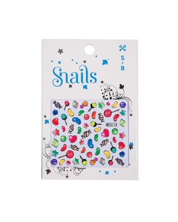 Snails Nails Candy Crush Nail Stickers