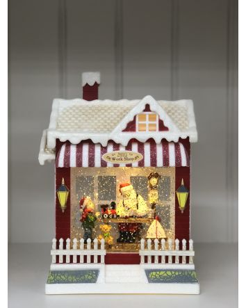 Santa's Workshop Spinning House